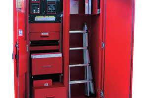 Eine Feuerwehr-Anlaufstelle (FAS) enthält neben einer FIZ weitere individuell zusammengestellte Komponenten.<br />