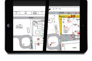"""Mit dem grafischen Informationssystem """"Aplimo/Aplis"""" lassen sich Brandschutzgrafiken digital speichern und ausdrucken sowie zusammen mit Echtzeit-Informationen der angeschlossenen Brandmeldezentralen auf mobilen Endgeräten anzeigen.<br />"""