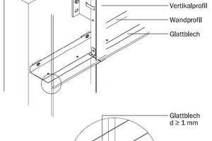 Horizontale Brandsperre, 1 mm Stahlblech, durchgehender Luftspalt<br />