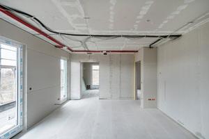 Die Wände erhielten eine ein- bzw. zweilagige Bekleidung aus fermacell Platten.