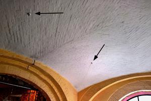 Sprinkler in der historischen Decke<br />