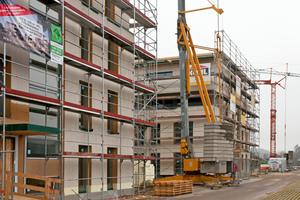 Riedpark/Lauchringen: Zwei viergeschossige Mehrfamilienhäuser komplett in Holzbauweise made of Ligno errichtet.