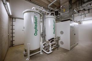 Die OxyReduct®-Anlage senkt die Sauerstoffkonzentration unter die Entzündungsgrenze der im Lager vorherrschenden Materialien ab.<br />&nbsp;<br />