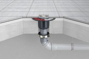 Die FireStop Brandschutzmanschetten in den Größen DN 90 und DN 110 werden bequem von unten an die Decke geschraubt – gerade bei schwierigen Einbausituationen eine deutliche Montageerleichterung. <br />