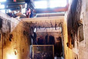 Der Brandofen nach dem Test: Alle Rohrschellen wurden bis zur Zerstörung geprüft. Das Ergebnis wird ausgewertet und die zulässigen Lasten ermittelt.<br /><br />