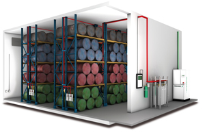 Kombinierter Brandschutz aus Sauerstoffreduzierungsanlage und CO<sub>2</sub>-Löschsee<br />