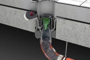 Der optionale Geruch- und Rauchstopp verhindert das Ausbreiten von Rauch und das Eindringen von Gerüchen aus der Kanalisation bei fehlender Wasservorlage.<br />