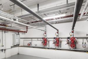 Die neue Sprinklerzentrale bietet ausreichend Platz für eine spätere Erweiterung der Löschanlage.