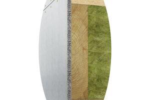Abbildung 3: Deckenanschluss – Gebäudeabschlusswand (außen) —  Beplankung fermacell<sup>®</sup> Powerpanel HD Hier handelt es sich um einen klassischen Anschluss, der so bei einer Gebäudetrennwand ausgeführt werden kann, die als erste Gebäudetrennwand gestellt wird. Die hier abgebildeten Fugenausbildungen ermöglichen es, das entsprechende Beplankungsmaterial im Deckenanschlussbereich nachträglich von der Außenseite zu montieren, wobei diese Beplankung im Anschluss der Gesamtmontage der Gebäudetrennwand befestigt bzw. angeklammert werden kann.  <br />