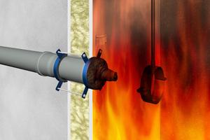 """<div class=""""bildtext"""">Dadurch, dass das intumeszierenden Material nicht nach außen entweichen kann, drückt de das Rohr im Brandraum ab.</div>"""