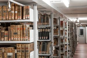 """<div class=""""bildtext"""">Systemanordnung in einer Bibliothek</div>"""