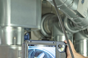 """<div class=""""bildtext"""">Videoinspektionskameras liefern detailgetreue Aufnahmen aus dem Inneren von Brandschutzklappen, auch wenn sie schwer zugänglich sind. </div>"""