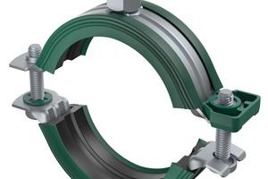 """<div class=""""bildtext"""">""""Bifix G2"""" mit Einlage für Stahl-, Kupfer-, Gusseisen-, Kunststoff- und Mehrschichtverbundrohre und einem Sicherheitsschnellverschluss bietet Schallschutz nach DIN 4109.</div>"""