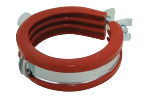 """<div class=""""bildtext"""">""""BISMAT 2000 S""""-Einschraubenschelle mit einer bis zu 200 °C hitzebeständigen Schallschutzeinlage aus Silikongummi.</div>"""