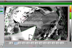 """<div class=""""bildtext"""">Das Panorama-Scan-Bild stellt den Überwachungsbereich, der sich horizontal über etwa 250 m erstreckt, dar. Hotspots erkennt der Benutzer auf einen Blick und kann zur Detailansicht via Live-Bild auch direkt einen Bild-Ausschnitt wählen. </div>"""