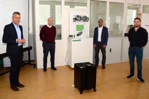 """<div class=""""bildtext"""">Von links nach rechts: Dr. Rainer Müller, Dr. Alexander Röder, Dr. Abdelhakim Bekkali und Jochen Keim</div>"""