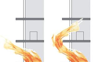 """<div class=""""bildtext"""">Brände können schnell vom Innern auf die Fassade überschlagen. Deswegen kommt der Gebäudehülle beim Brandschutz eine besondere Bedeutung zu.</div>"""
